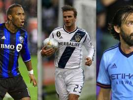 Drogba, Beckham and Pirlo have all enjoyed spells in the MLS. GOAL