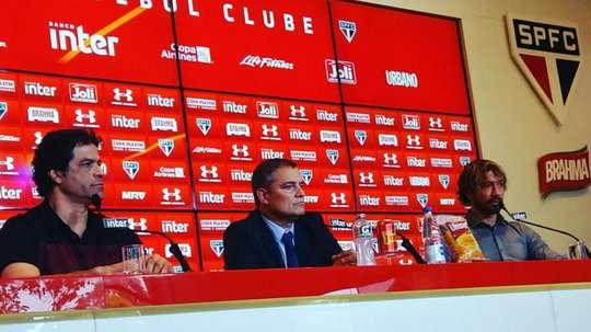 Aguirre na apresentação pelo São Paulo. GOAL
