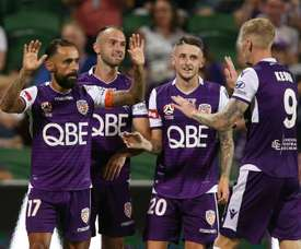 Andy Keogh struck twice as Perth Glory ended the A-League's regular season. GOAL