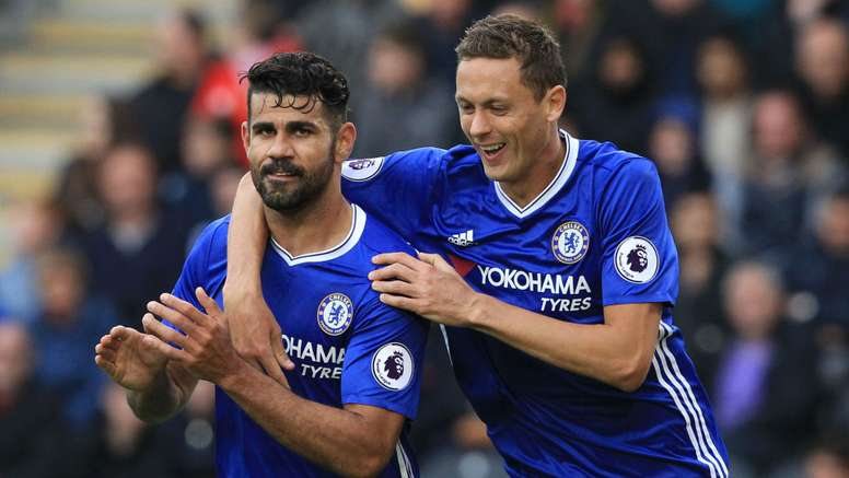 Costa (L) will miss the next match against Bournemouth. Goal