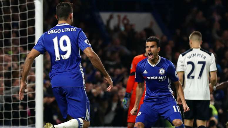 Diego Costa and Pedro are a good team. Goal