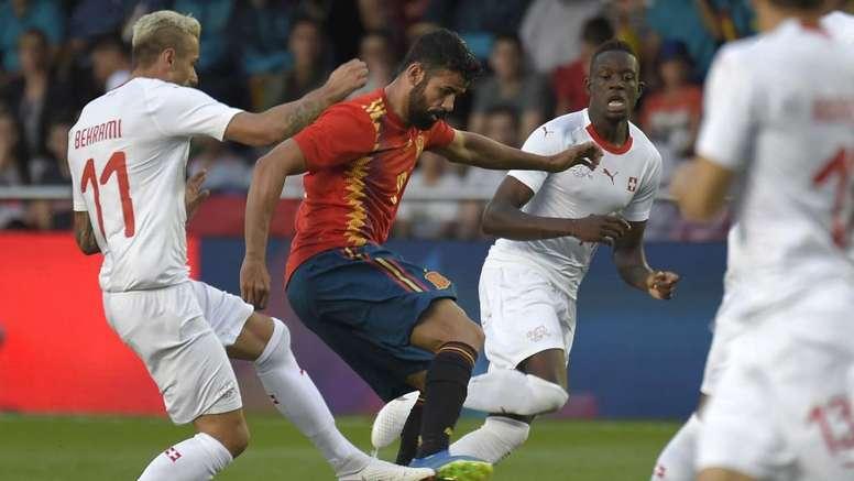Espanha e Suíça ficam no empate em Valencia.GOAL