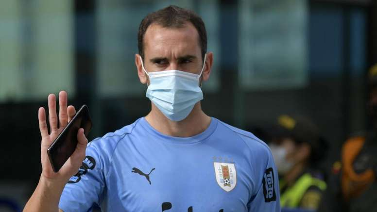Diego Godin has been ruled out of the game. GOAL