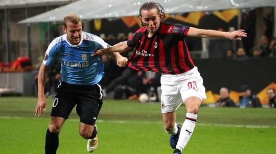 Diego Laxalt Milan Dudelange Europa League