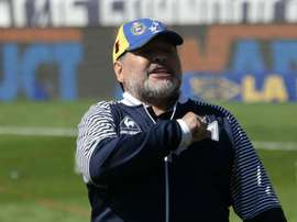 Maradona is carrying on as Gimnasia coach despite resigning two days ago. GOAL