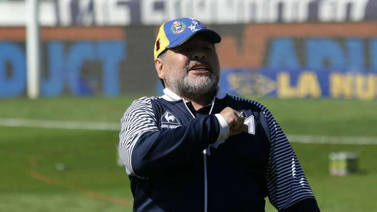Maradona is carrying on as Gimnasia coach despite resigning two days ago. GOAL