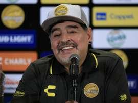 Maradona cita América em apresentação ao Dorados e 'trolla' amistoso do Brasil