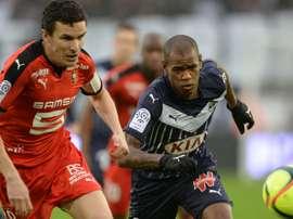 Diego Rolan et Romain Danze, Bordeaux-Rennes, Ligue. GOAL