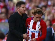Simeone has no complaints about Griezmann's time with him. GOAL
