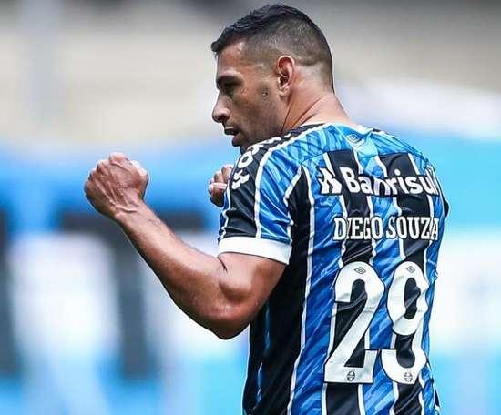Diego Souza já tem data marcada para se aposentar e deverá ser pelo Grêmio. AFP