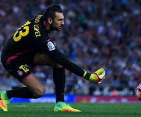 Diego Lopez in action with Espanyol. Goal