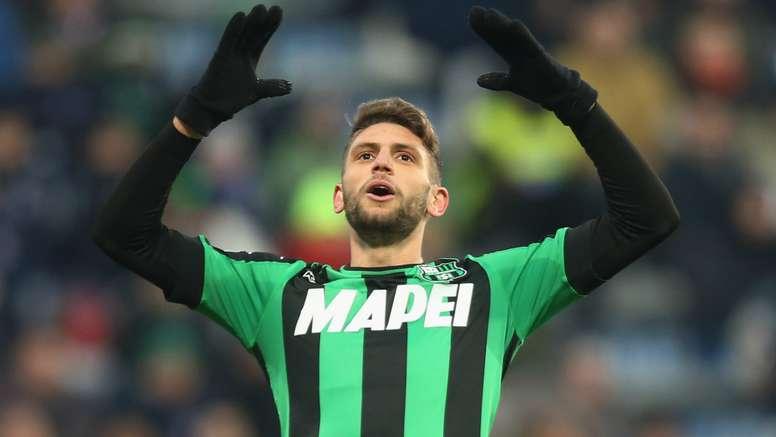 Domenico Berardi dans un match de Serie A avec Sassuolo. AFP