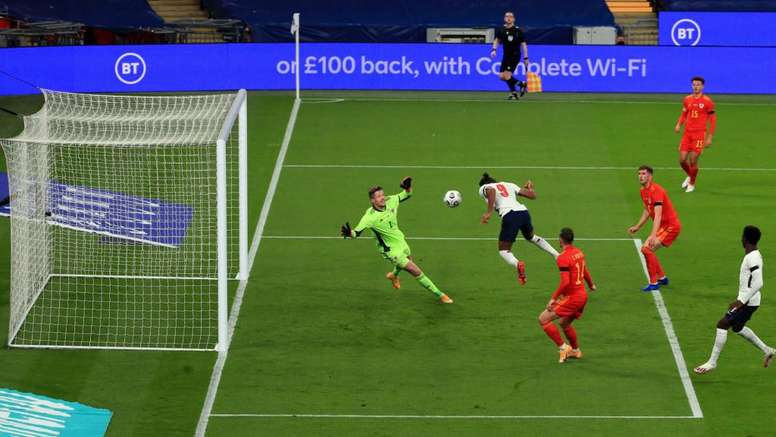 Dominic Calvert-Lewin opened the scoring as England beat Wales 3-0 at Wembley. GOAL