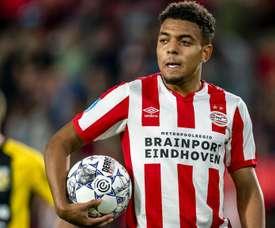 Le quintuplé historique de Donyell Malen avec le PSV. AFP