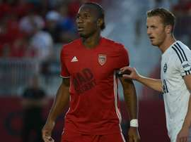 Drogba showed he is still a force to be reckoned with after scoring on his debut. AFP