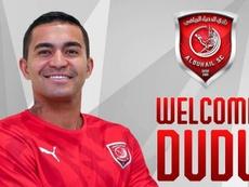 Dudu foi oficializado como reforço do Al-Duhail. Al-Duhail