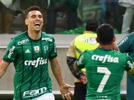 A felicidade dos jogadores do Palmeiras. GOAL
