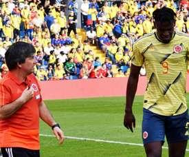 L'attaccante della Colombia e dell'Atalanta Duvan Zapata. AFP