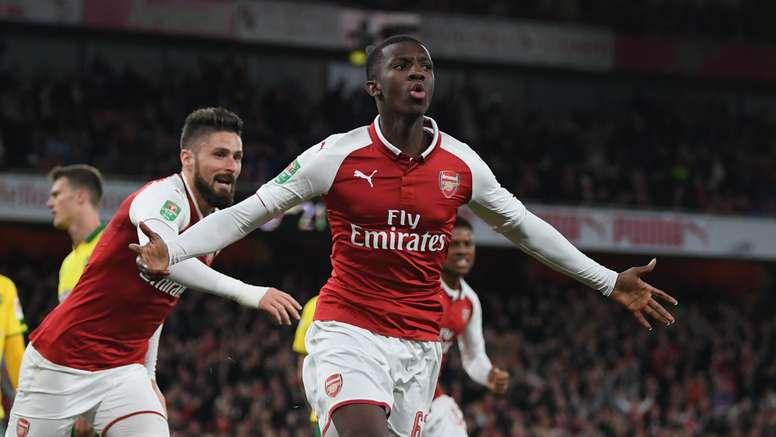 Wenger sees future for Nketiah. GOAL
