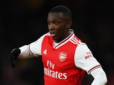 Eddie Nketiah is making his first Arsenal PL start. GOAL