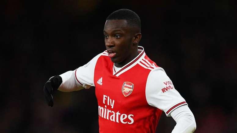 Eddie Nketiah is making his first Arsenal PL start. GOAL
