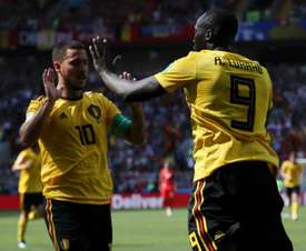 Hazard joked about wanting Romelu Lukaku's form to begin and end with Belgium. GOAL