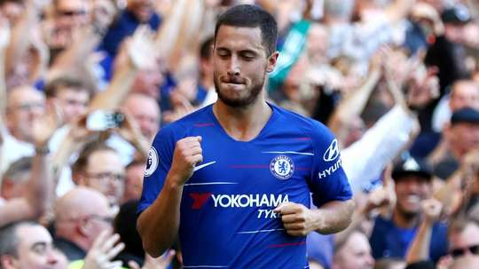 Hazard bagged the second. GOAL