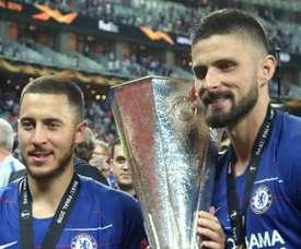 Hazard, Jovic and Giroud in running for Europa League award. GOAL