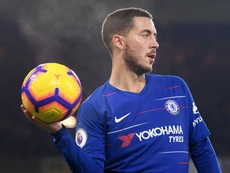 Guardiola denies that City are interested in signing Hazard. GOAL
