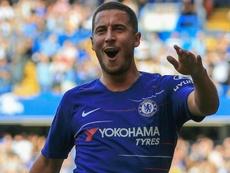 Hazard uis not in Chelsea's squad of 18. GOAL