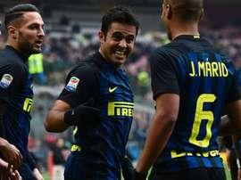 Eder dans le match de Serie A entre l'Inter Milan et l'Empoli. AFP