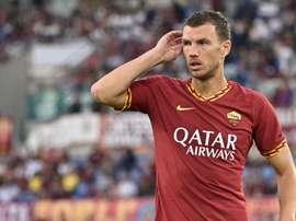 L'attaccante bosniaco della Roma Edin Dzeko. Goal