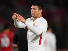 Elkeson scored the only goal for Shanghai. GOAL
