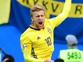 Le héros suédois, c'est lui. Goal