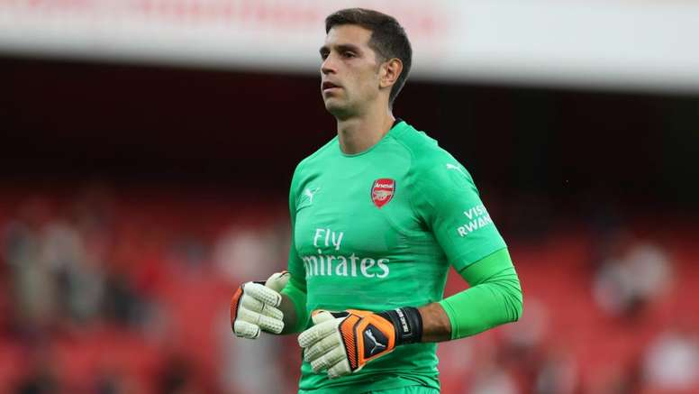Arsenal's Emiliano Martinez could make his Argentina debut. GOAL