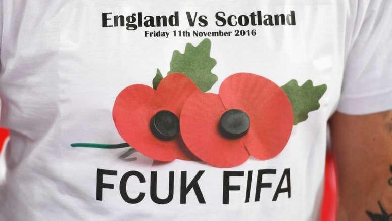 England vs Scotland FCUK FIFA t-shirt. Goal