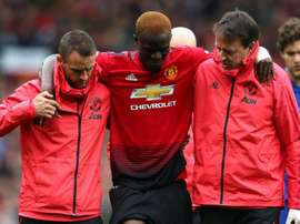 Eric Bailly suffered an awkward knee injury against Chelsea. GOAL