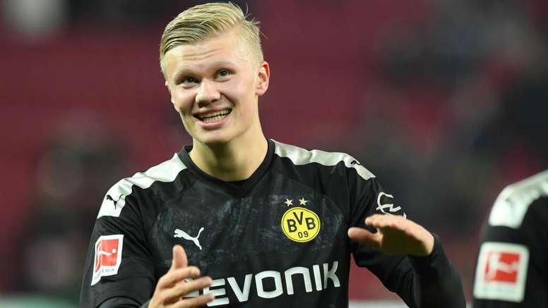 It Was A Good Day Hat Trick Hero Haaland Savours Dortmund Debut Besoccer