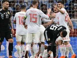 A Espanha bateu a Argentina por 6-1. Goal
