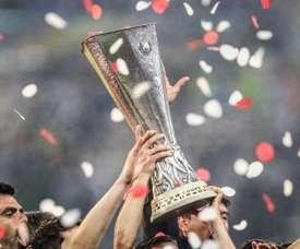 The Europa League trophy.  GOAL