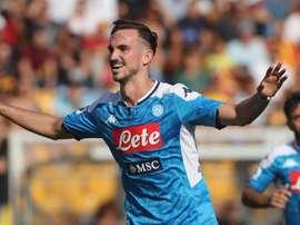 Il centrocampista spagnolo del Napoli Fabián Ruiz. Goal