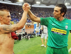 Cannavaro (L) forms part of our Buffon's best teammates XI