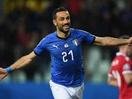 Quagliarelle became Italy's oldest ever scorer. GOAL