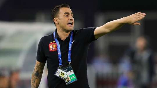 Cannavaro's side were dumped out by former employers Tianjin Quanjian. GOAL