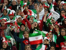 Many women were in the stands to watch Iran v Cambodia. GOAL