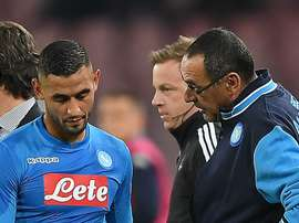 Ghoulam hobbled off in the first half of the loss to City. GOAL