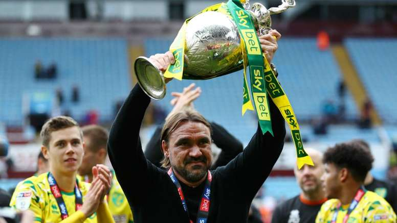 Farke's newly promoted Norwich will travel to Liverpool on the opening day. GOAL