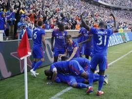 FC Cincinnati celebrate a goal. AFP
