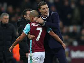 Feghouli was controversially sent off against Manchester United. Goal