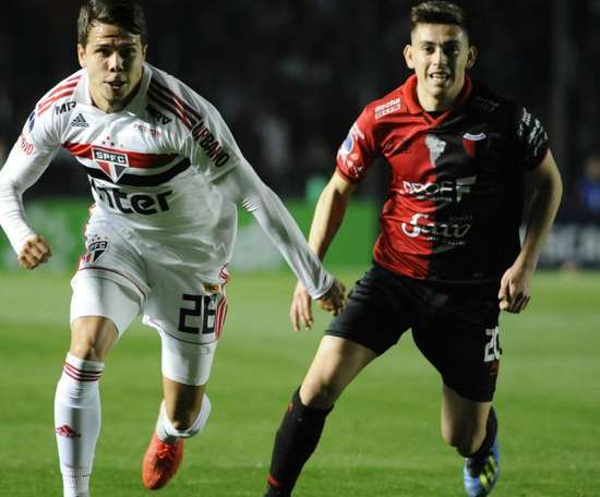 Felipe Arauna Gonzalo Escobar Colon Sao Paulo Copa Sudamericana. Goal